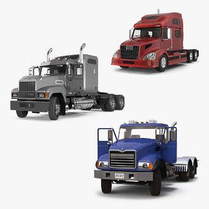 rigged trucks 3D model