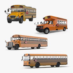 school buses 2 bus 3D model