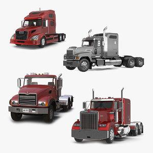 3D trucks semi trailer