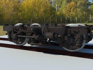 bogey train 3D model