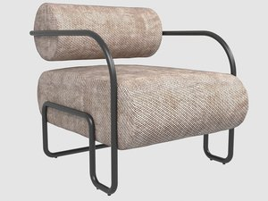 ardent club chair black 3D
