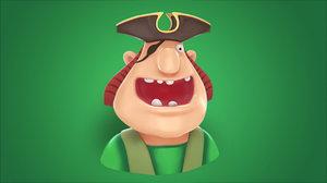 3D pirate face