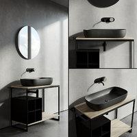 Scarabeo Ceramiche Solid Vanity Unit Set 1