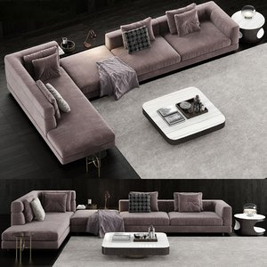 3D minotti alexander sofa 2