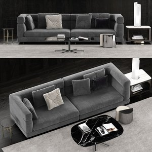 minotti alexander sofa 3 3D