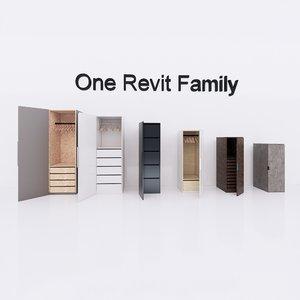 revit family ikea pax 3D