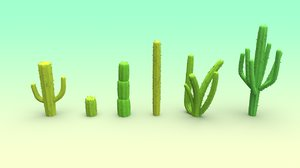 3D set cactus