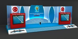 opening ceremony stage 3D model