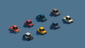 3D model cartoon cars package city