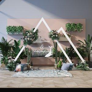 3D model interior decoration exhibition