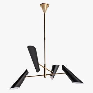 franca small chandelier lighting 3D model