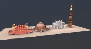 monuments india 3D model