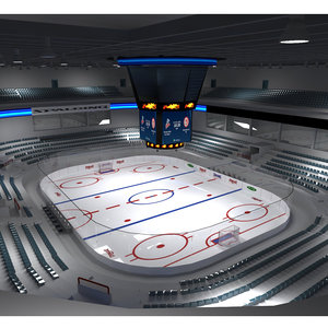 3D model ice hockey stadium