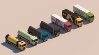 Cartoon Low Poly Truck Package