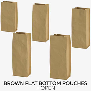 brown flat pouches - model