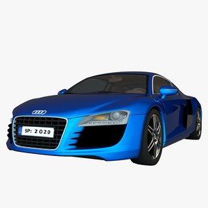3D audi r8 car