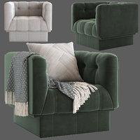 Globewest Humphrey Square 1 Seater Sofa