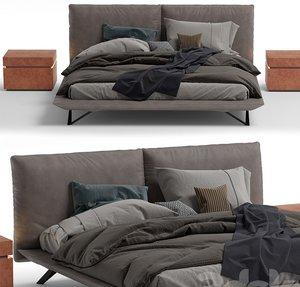 3D modern bed