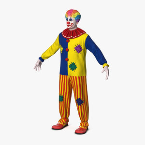 3D adult clown suit