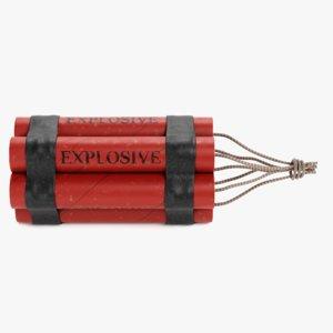 3D dynamite bomb tnt model