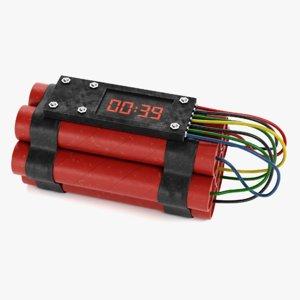 dynamite bomb tnt model