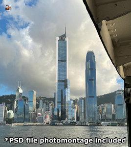 hong kong skyscraper 3D model