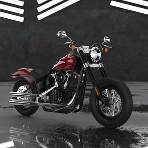 3D motorcycle harley davidson softail
