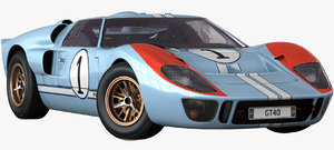 realistic gt40 1963 opening 3D