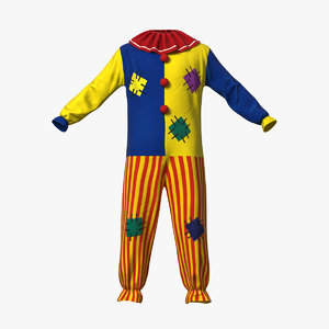 motley clown suit model