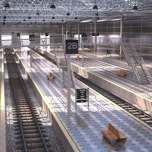 train station building 3D model