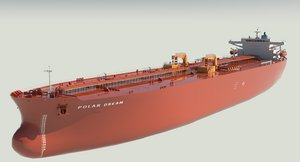 3D vlcc super tanker polar model