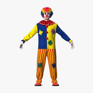 3D adult clown suit fur model