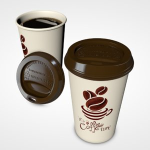 coffee paper cup 3D model