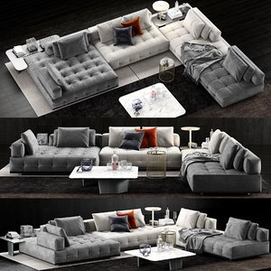 minotti lawrence clan sofa 3D model