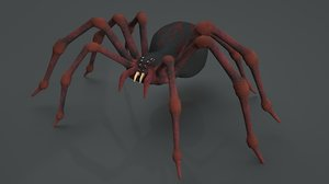 3D spider rigged model