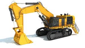 3D hydraulic mining shovel