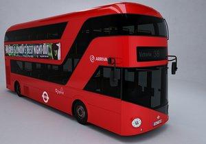 london double decker bus 3D