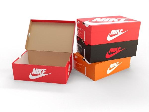 modèle 3D de Boîte à chaussures Nike - TurboSquid 1588402