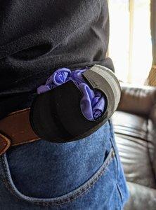 3D belt latex glove carrier