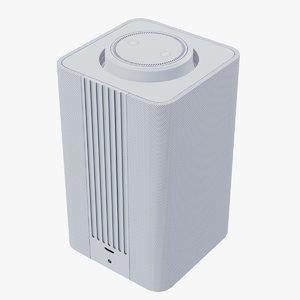 3D white smart speaker