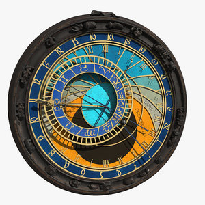 3D model astronomical horologe prague