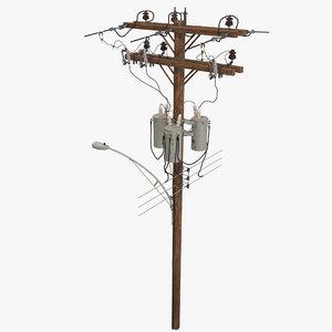 utility pole 3D