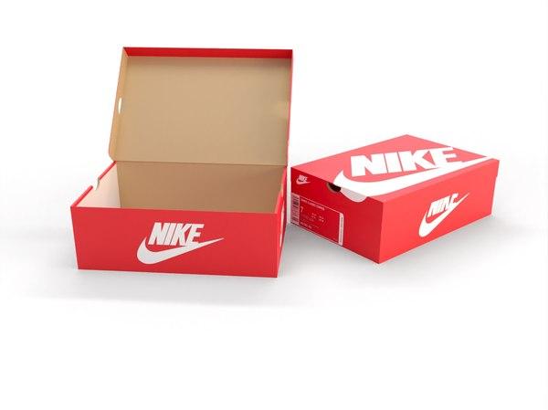 modèle 3D de Boîte à chaussures Nike - Rouge - TurboSquid 1588427