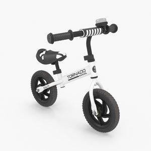 white bike 3D model