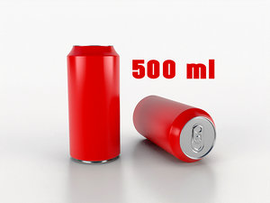 beverage 500 ml 3D model