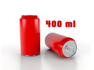 beverage 400 ml 3D model