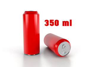 beverage 350 ml 3D model