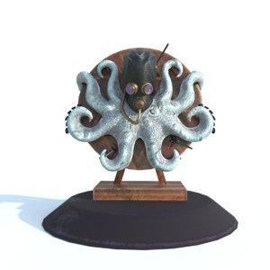 3D model fearless octopus