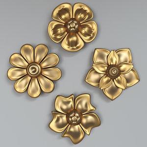 3D flower 01 model