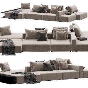 3D poliform westside divano model